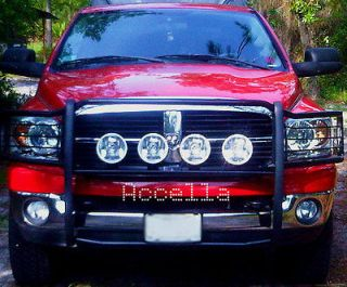 FOUR 7 Inch Off Road Brush Guard Grille Bull Bar 4x4 Driving Lights w
