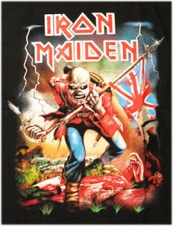 Music Tee Iron Maiden HEAVY METAL ROCK T SHIRT MENS Sz XL