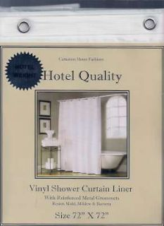 Hotel Weight HEAVY Vinyl Shower Curtain or LINER~Metal GROMMETS