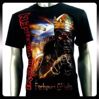 Sz M Iron Maiden T Shirt Biker Rider Heavy Metal Men Punk Rock S44