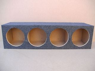 Sealed Ford Expedition Subwoofer Box Four 4 Hole Sub Tweeters Gray