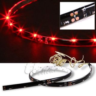 BEST 2 X UNDER CAR BODY 20 LED NEON LIGHT STRIPS BLOODY RED
