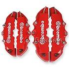 2Front + 2Rear) Universal 3D Brembo Style Disc Brake Caliper Cover Red