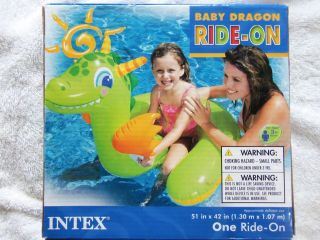 Intex Baby DRAGON Ride On Inflatable Kid Swimming Pool Float Tube