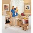 EXTRA WIDE BABY CHILD SAFETY EXPANDABLE WOODEN WALK THRU PET DOG CAT
