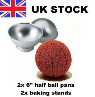 3D Sports Ball Cake Tin Pan Mold Set 6 Half Ball Sphere Baking Tool