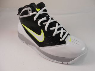 HYPED 2(GS/PS) YOUTH WHITE/BLACK /GREEN BASKETBALL SHOES, RETAIL $65
