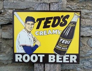 Antique Style Retro Metal Sign Root Beer Ad Red Sox Fan Gift USA