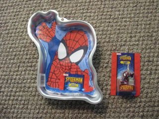 WILTON SPIDER MAN SPIDERMAN + CANDLE BIRTHDAY CAKE PAN