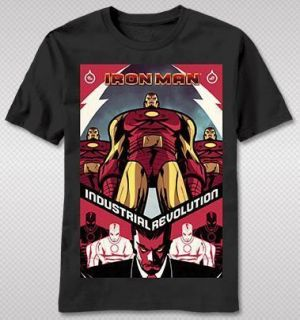 NEW Iron Man Tony Stark Industries Classic Look Marvel Hero Avengers T