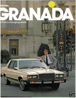 1981 FORD GRANADA SALES BROCHURE BOOK CATALOG