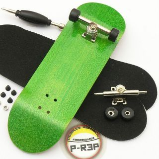 Peoples Republic   30mm Complete Wooden Fingerboard   Green   Basic