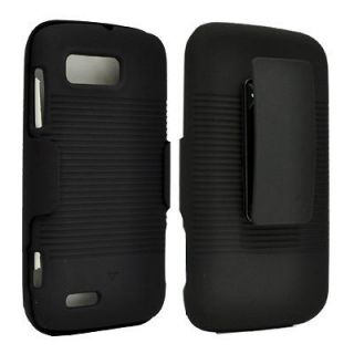 Ribbed Shell Holster Belt Clip Case+Stand for Motorola Atrix 2 MB865