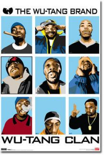 WU TANG CLAN Poster   Hip Hop Collage Full Size ~ The Wu Tang Brand