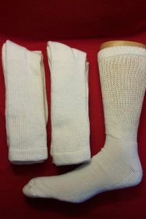 pr Dr Scholls Cushion Diabetic Socks, shoe sz 7 to 12, White, NWOT