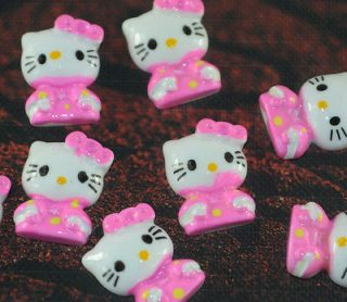 20pcs Resin Hello Kitty Cats Flat back Cabochons t350