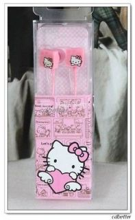 New Cute Hello Kitty Earphone for Android Mobile Earbuds 3.5mm Ip4