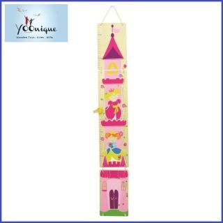 WOODEN GROWTH HEIGHT CHART PRINCESS GIRLS MESSURE KIDS WALL DECOR