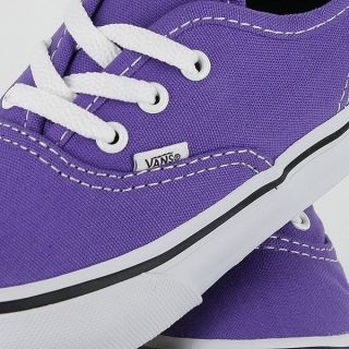 New Vans Authentic (Passion Flower/ Black) Mens Purple Skate Shoe