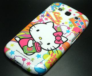 Hello Kitty Ice Cream Cake Drink Green Blue Stars Case SAMSUNG GALAXY