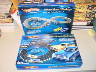 HOT WHEELS PLYMOUTH SUPERBIRD DODGE CHARGER SLOT CAR SET STREET SPEED