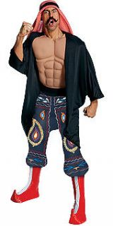 Mens Wrestling Halloween Costume Iron Sheik WWE Outfit Adult Wrestler