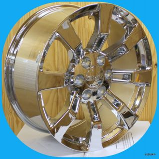 of 20 Chrome Escalade Wheels for GMC Sierra Denali Yukon 20 in Rims