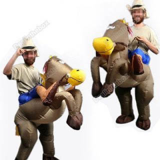 Inflatable Western Cowboy&Horse Rider Suit Halloween Costume Cosplay