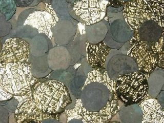 LOT ANCIENT ROMAN COINS & PIRATE GOLD DOUBLOON REPROS