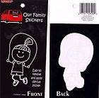 Vehicle Window Decal Sticker Jump rope sister girl play Stick Figure
