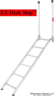 NEW PORTABLE ALUMINUM LADDER STEP DECK FLATBED TRAILER (Ladder 16 72)