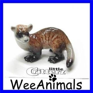 Little Critterz Digger Black Footed Ferret Miniature Figurine Wee