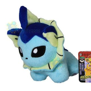 Newly listed NEW TAKARA TOMY Pokemon Pikachu 5 VAPOREON Plush Figure