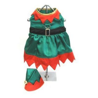 DOG COSTUME   ELF GIRL   CHRISTMAS HOLIDAY   XS TO XL