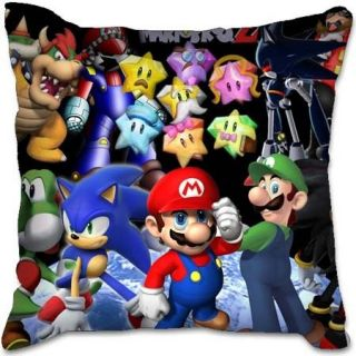 Super Mario Bros Sonic Edible Christmas 40cm Toy Plush Car Seat Chair