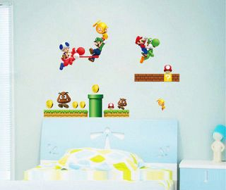 Newly listed New Super Mario Bros Kids Removable Wall Sticker PVC Home