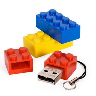 4GB *NOVELTY* LEGO USB Flash Drive Memory Stick 5 colours