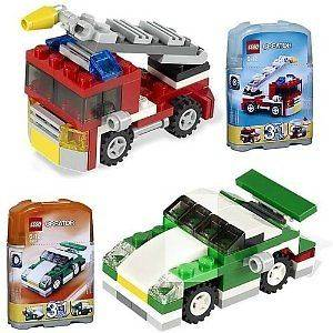 Creator Mini Sports Car & Mini Fire Rescue 3 in 1;;;; 2 piece SETs