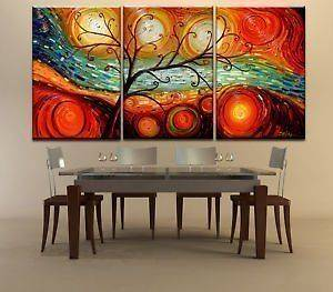 Hot Sell 3 pieces Modern Abstract Art Oil Painting Wall Decor canvas