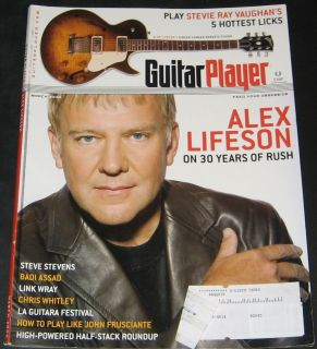 Guitar Player Magazine March 2006 Issue ALEX LIFESON RUSH Ships