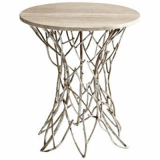 Antique Silver Twigs Side Table