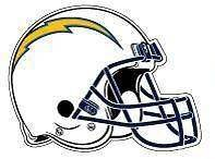 NFL San Diego CHARGERS Helmet Logo Decal Sticker.MINT Made in USA.FAST