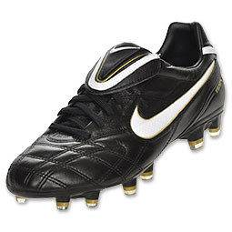 Nike Tiempo Legend III FG Black/White Gold Mens Soccer Cleats 366201