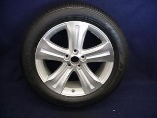 TOYOTA HIGHLANDER 08 12 19 5 SPOKE MACHINED/SILVER ALLOY WHEEL & TIRE