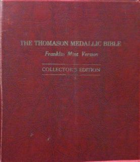 THE THOMASON MEDALLIC BIBLE    FRANKLIN MINT VERSION    COLLECTORS
