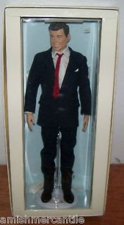 Franklin Mint John Kennedy Vinyl Doll W/ Box  JFK Doll  President Doll