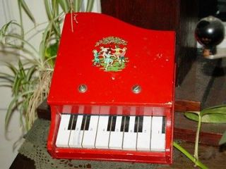Vintage or Antique Baby Grand Piano    Childs toy