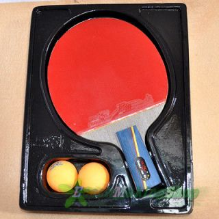 5a e Ping Pong Paddle Table Tennis Racket Short Professional 2 balls