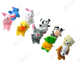 Hot10PCS Velvet Animal Finger Puppets /Plush Toys/Baby Toys For Child