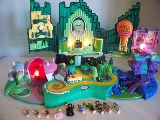 POLLY POCKET WIZARD OF OZ DISNEY PLAYSET*L@@K*COMPLETE* 10 CHARACTERS